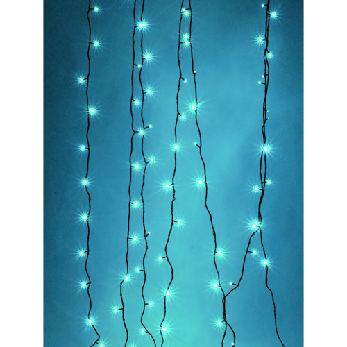 EUROLITE LED garland 230V 200 blue LEDs 36m, With Controller, Light chain 26m + Feed line 10 m, Exclusive LED light chain for stylish deco-effects!