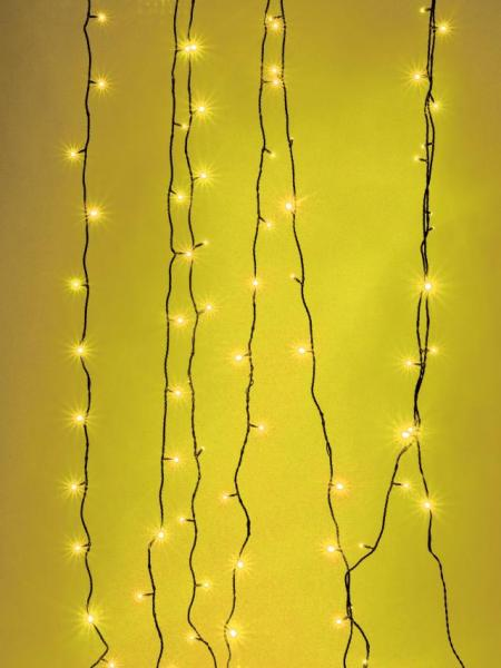 EUROLITE LED garland 230V 200 yellow LEDs 36m, With Controller, Light chain 26m + Feed line 10 m, Exclusive LED light chain for stylish deco-effects!