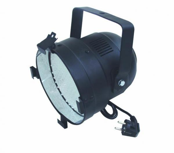 EUROLITE LED PAR-56 UV, black, 5mm This LED spot can do more than just shine! Terrific UV effects possible, 151 LEDs, 18 W