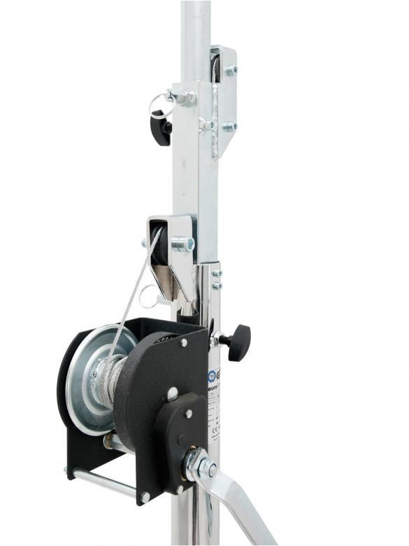 EUROLITE STT-400/85 Terästeline valoille tai äänentoistolle. Minimi kuorma 25kg, maximi kuorma 80kg, minimi korkeus 1,75m, maximi korkeus 4m, maximi nostopituus 2,25m, jalusta 1,6 m ›, paino 25kg