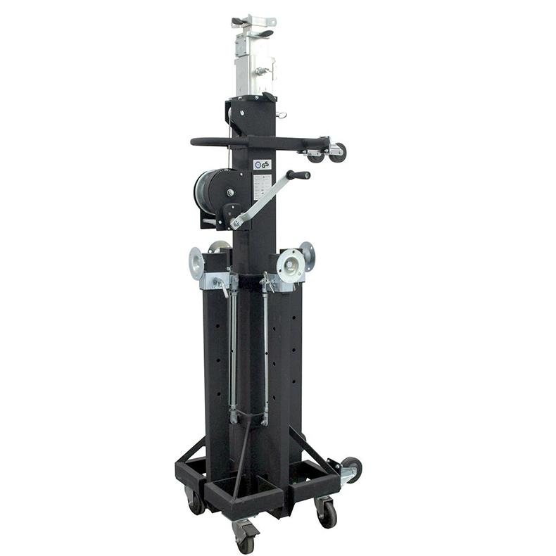 EUROLITE STC-550/220 trussi-, kaiutin- tai valoteline vinssillä korkeuksiin max 5,5m, kuorma max 180kg.