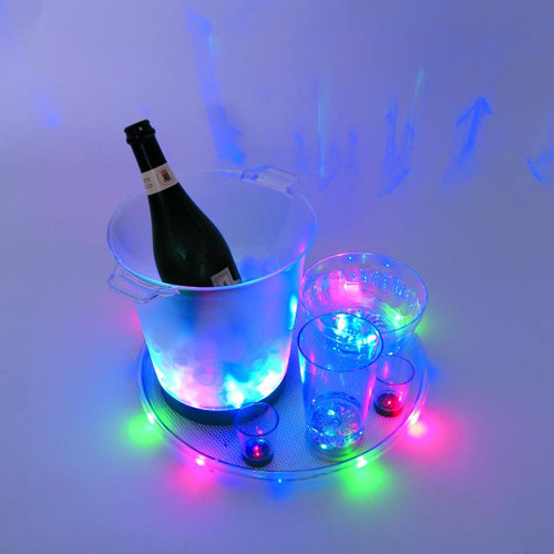 EUROLITE LED Serving Tray 3 colors, Decorative bowl with LEDs