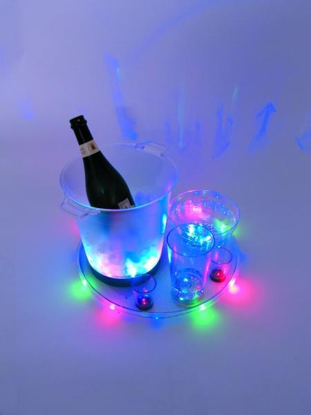 EUROLITE Tuote Lopetettu LED Ice Bucket, Jääpala Kulho 21,5cm x 23,5cm