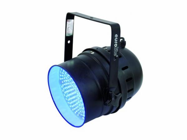 EUROLITE LED PAR-64 UV, black, 10 mm UV Spot as LED DMX model, 183 LEDs, 30 W, 25-30°
