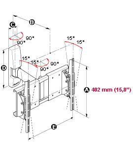MELICONI Space System Flat 3, Flat 1, 2 ja 3-mallit on suunniteltu erityisesti painaville, yli 20 kg painaville plasma/LCD-näytöille, joiden koko on 25