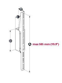 MELICONI Space System Flat 1 Maxi, Flat 1, 2 ja 3-mallit on suunniteltu erityisesti painaville, yli 20 kg painaville plasma/LCD-näytöille, joiden koko on 25