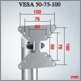 MELICONI Poistunut Tuote Flat Vision Fly 50, VESA 50,75, 100, 200 -kiinnitys, runkorakenne alumiinia, cabless järjestelmä johtojen piilottamiseen, max. paino 30 kg, hopea