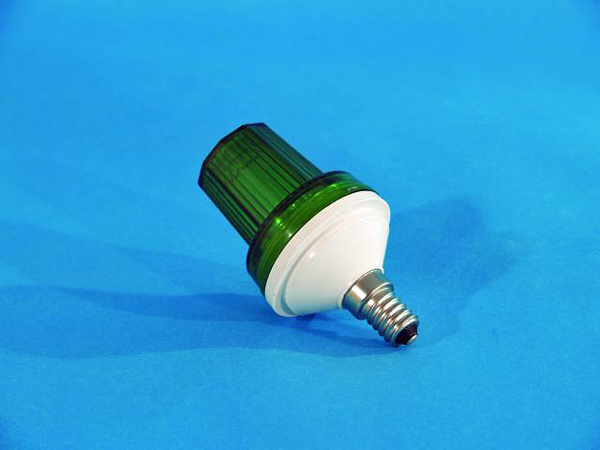 EUROLITE LED Strobe E-14 base, Green