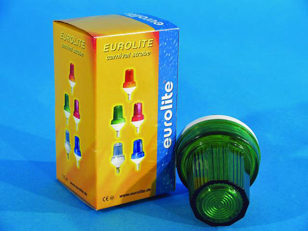 EUROLITE LED Strobe E-14 base, Green, discoland.fi