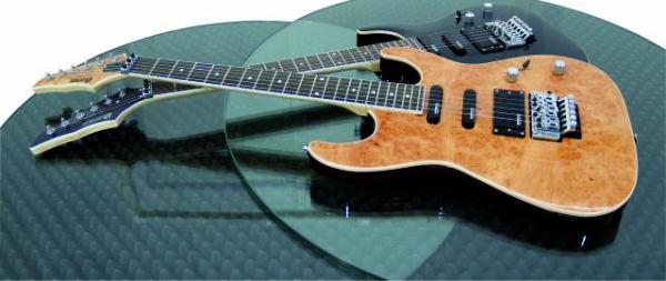 DIMAVERY FR-600 E-Guitar, Burl top