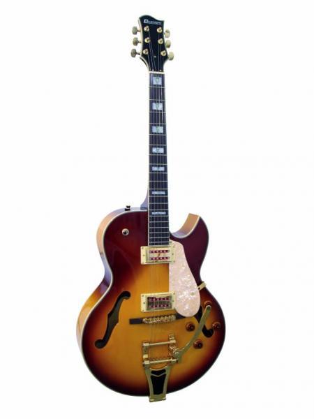 DIMAVERY VR-600 Vollreson E-Guitar Brown, discoland.fi