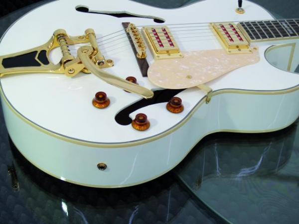 DIMAVERY VR-600 Vollreson E-Guitar White