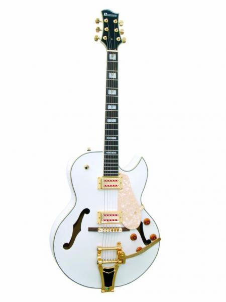 DIMAVERY VR-600 Vollreson E-Guitar White, discoland.fi