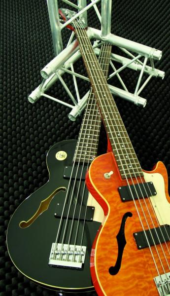 DIMAVERY HBB-500 Hollow Body Bass,Q.Maple