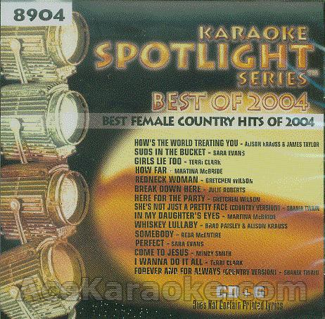 KARAOKE CDG Sound Choice Spotlight CDG SCG8904 - Best Female Country Hits Of 2004