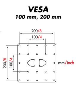 MELICONI Space System LCD 40-Paketti vesa 100 x 200 mm (hopea)