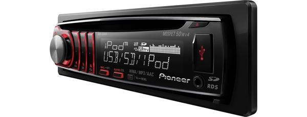 PIONEER DEH-6300SD CD-viritin, jossa iPodin hallintalaite, etu-USB, SD-lukija ja 3 Hi-Volt RCA-Pre-out-liitäntää, esivahvistinlähtöä!
