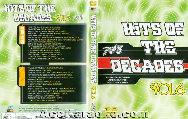 HITS OF THE DECADES 70- Luvun hitit VOL 6. DVD