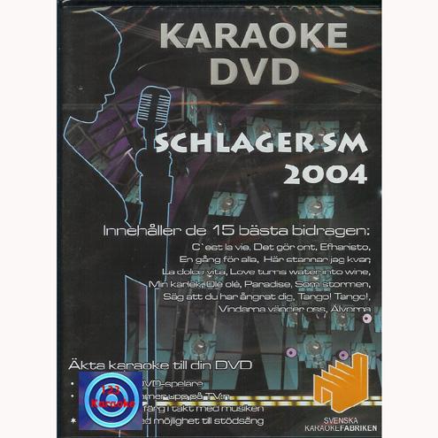 DVD KARAOKE Schlager SM 2004 (DVD), discoland.fi