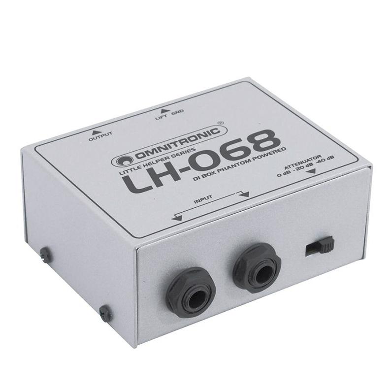 OMNITRONIC LH-068 DI boxi phantom virta , discoland.fi