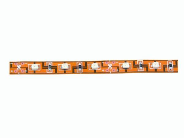 EUROLITE LED nauha RGB monivärinen SMD ledeillä, 24 Volttia, pituus 5m, voidaan katkaista joka 12,5cm välein. Vain sisäkäyttöön. Strip 240 5m 5050 RGB 24V. Flexible LED strip for indoor use.