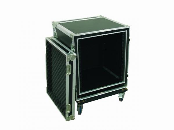 OMNITRONIC Amplifier rack SPWS-12 12U, anti-shock Professional flight case for 483 mm units (19