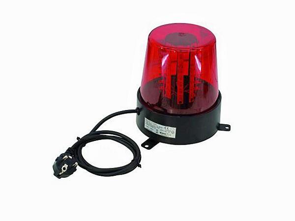 EUROLITE LED Poliisivalo, Punainen,  Police Light 56 LEDs red 230V/ 32W. Dip kytkimien avulla voit valita 6 kpl eri tyyppisiä pyörintä efektejä. 56 lediä antavat huippuluokan valotehon moniin tilanteisiin.