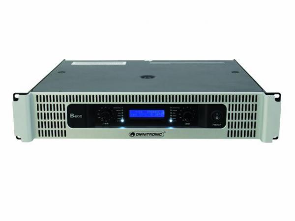 OMNITRONIC B-600 Amplifier 2x 300W 4ohms, discoland.fi