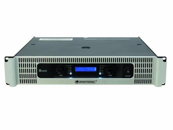 OMNITRONIC B-1000 Amplifier 2x 500W 4ohm, discoland.fi