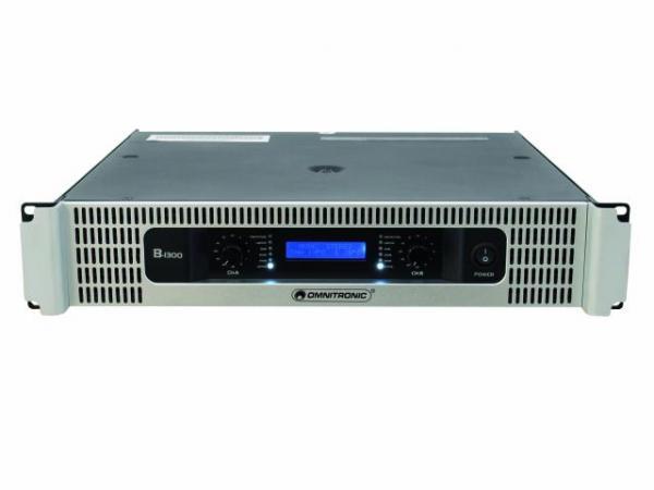 OMNITRONIC B-1300 Amplifier 2x 650W 4ohm, discoland.fi
