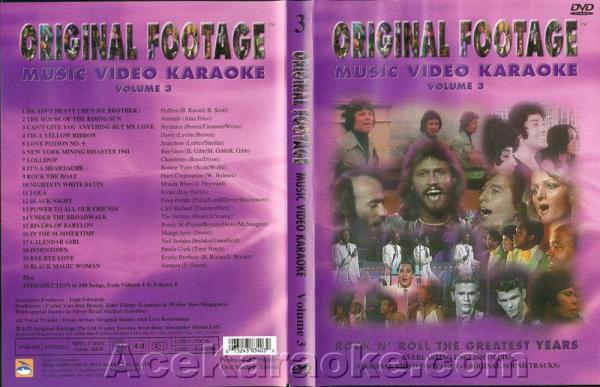 KARAOKE DVD Loppu Original Footage VOL. 3