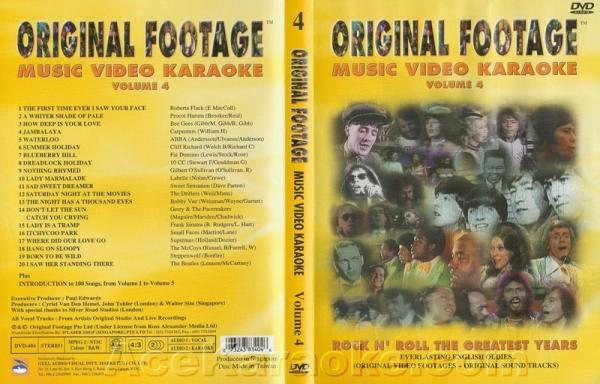 KARAOKE DVD Original Footage VOL. 4