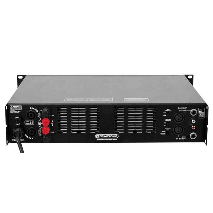 OMNITRONIC SMA-1500 Päätevahvistin 2x 750W 4ohmia, limitterillä. Erittäin kevyt pääte. Mitat 390 x 483 x 92 mm sekä paino vain 9kg.