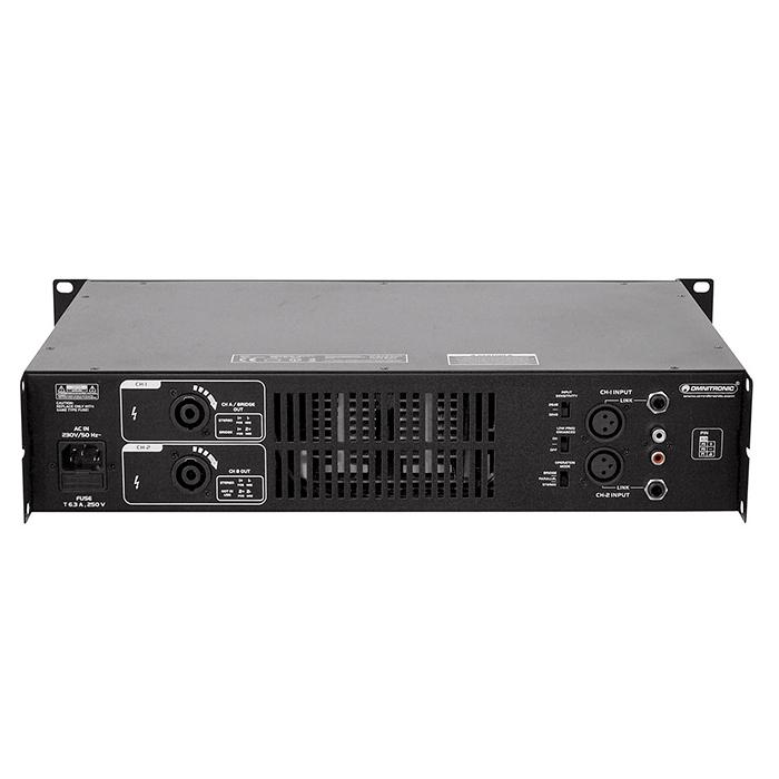 OMNITRONIC SMA-600 Päätevahvistin 2x 300W 4ohmia, limitterillä. Stereo PA amplifier with integrated limiter and SMPS. Erittäin kevyt pääte, paino vain 5.6kg.