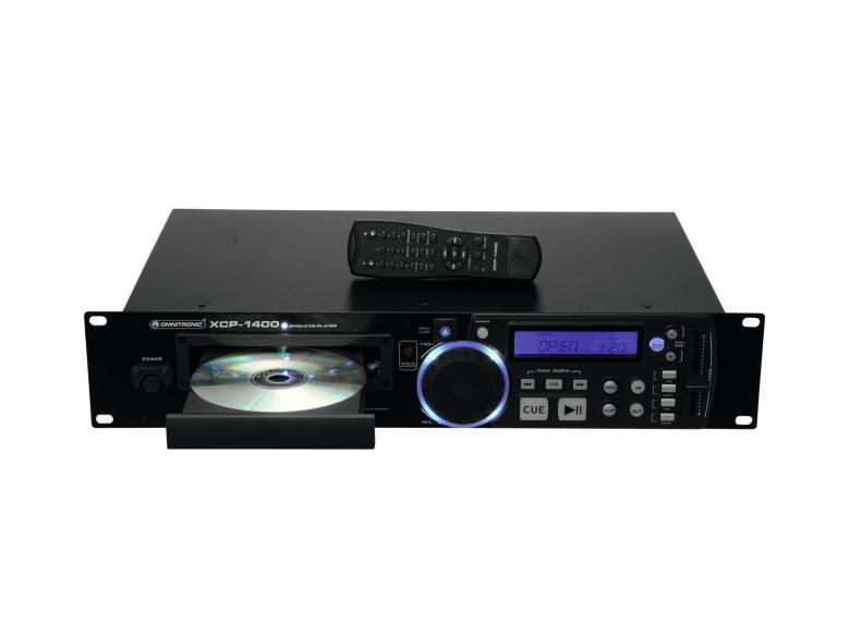 OMNITRONIC XCP-1400 Single CD-soitin, Soittimessa mukana kaikki tärkeimmät DJ- ja kuntosalikäyttöön tarvittavat ominaisuudet, esim.+/- 16%.Nopeuden säätö. Loistava tuote vaikka Musiikki-pubiin tai DJ käyttöön, CD-player! Korkealaatuinen single CD-soitin. Helppokäyttöinen. Kappalevalinta sekä ohjelmointi skip/ search nappuloilla.Ohjelmointi mahdollista. LOOP toiminnolla voit valita tietyn osan soitettavaksi.Nopeudensäätö +/- 16%. 19