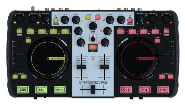 MIXVIBES LOPPU!!U-MIX CONTROL Pro DJ Midi Controller, DJ Konsoli t�ydelliseen miksaukseen, t�m� nappaat helposti keikalle tai teet kotona upeat miksaukset bileiss� ja yll�t�t yst�v�si, DJ-Console soittolaite, jolla teet tietokoneestasi Miksausaseman, sis�lt�� Cross DJ softan ja audio interfacen!