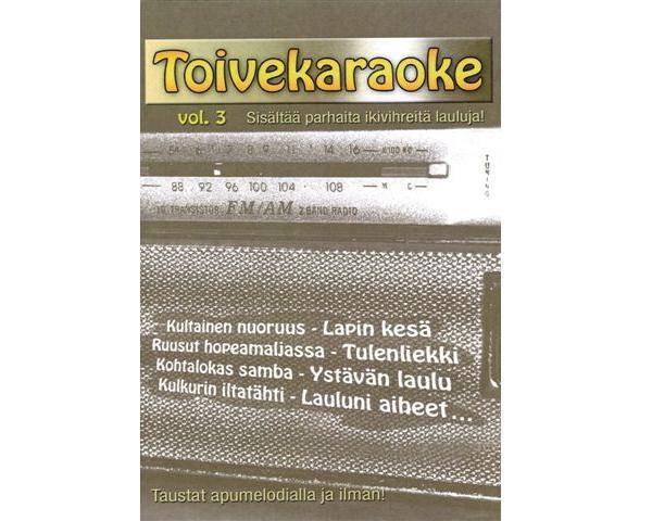 KARAOKE DVD Toivekaraoke Vol. 3 DVD kara, discoland.fi