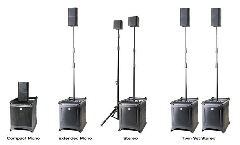 HKAUDIO Lucas Nano 300 äänisetti 1kpl Sub, 2kpl sateliitti sekä ,mikseri subbarin perässä. HK Audio Lucas Nano 300 set comprising of : 1x Active Subwoofer 8