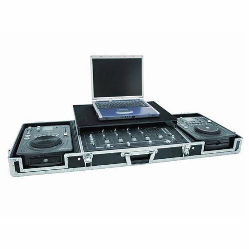 OMNITRONIC Kuljetuslaatikko laptop-telineellä, 2:lle CD-soittimelle ja 19
