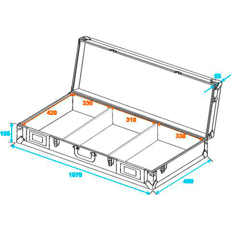 ROADINGER Kuljetuslaatikko DIGI-2 kahdelle CD-soittimelle ja 12