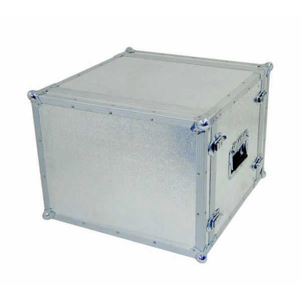 OMNITRONIC Efektiräkki. Effect rack CO DD, 8U, 24cm deep, alu. Professional flight case for 483 mm units (19