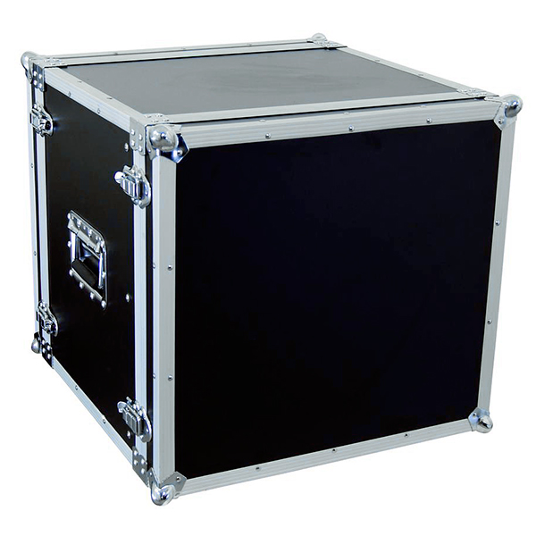 OMNITRONIC Efektiräkki. Effect rack CO DD, 10U, 38cm deep, black. Professional flight case for 483 mm units (19