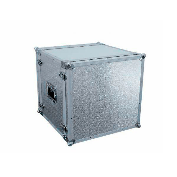 OMNITRONIC Efektiräkki. Effect rack CO DD, 10U, 38cm deep, alu. Professional flight case for 483 mm units (19