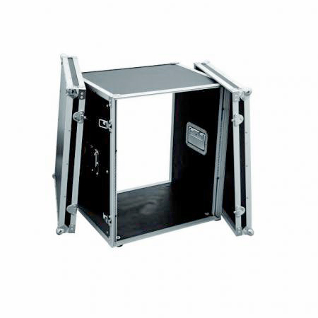 OMNITRONIC Efektiräkki Effect rack CO DD, 12U, 38cm deep, black. Professional flight case for 483 mm units (19