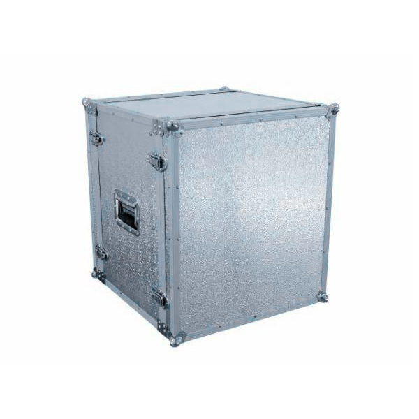 OMNITRONIC Efektiräkki. Effect rack CO DD, 12U, 38cm deep, alu. Professional flight case for 483 mm units (19