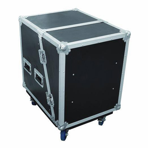 OMNITRONIC Amplifier rack SLA-1 12U, Professional flight case with wheel board for 483 mm units (19
