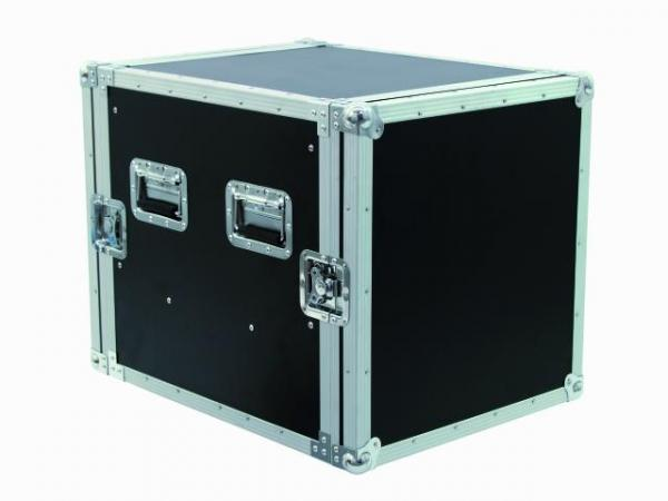 OMNITRONIC Amplifier rack with divider drawer 8U, Professional flight case for 483 mm units (19