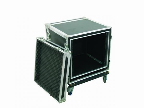 OMNITRONIC Amplifier rack SPWS-10 10U, anti-shock Professional flight case for 483 mm units (19