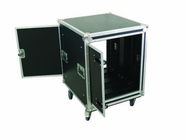 OMNITRONIC Amplifier rack SPDH-12 12U, anti-shock Professional flight case for 483 mm units (19