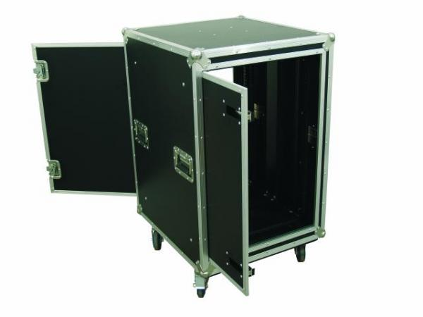 OMNITRONIC Amplifier rack SPDH-16 16U, anti-shock Professional flight case for 483 mm units (19